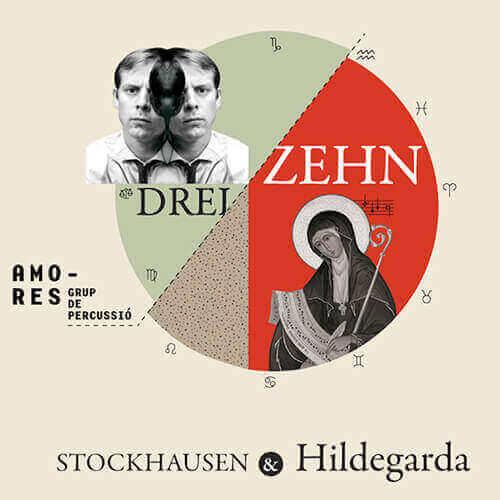 """Portada """"Dreizehn"""" AMORES grup de percussió"""